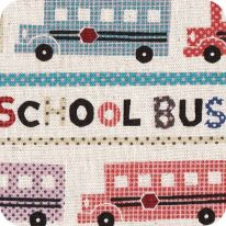 Tissus Kokka, School bus , 23/le m